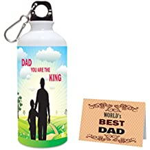 Aart Dad You are The King Printed Sipper Water Bottle 600 ML