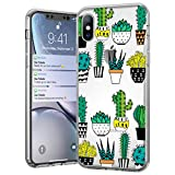 ymenstore Coque iPhone 6 Silicone, Coque iPhone 6S, Transparent Cristal Clair Cactus Housse TPU Souple Etui de Protection Doux Silicone Case Soft Gel Case Cover pour iPhone 6/6S Coque Cactus
