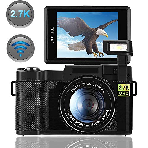 Camara De Fotos Camara Digital con WiFi 2.7K 24.0MP Ultra HD Camara Compacta 3.0...