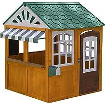 KidKraft 405 Maison en Bois Garden View, cabane extérieur pour Enfant incluant Accessoires, Marron