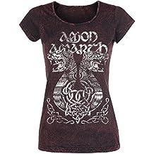 Amon Amarth Ship Girl-Shirt dunkelrot