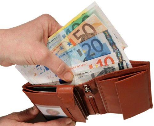 HPC  Euko-Chip-Börse Easy mit Lasche, Portafogli  Donna Nero-arancio