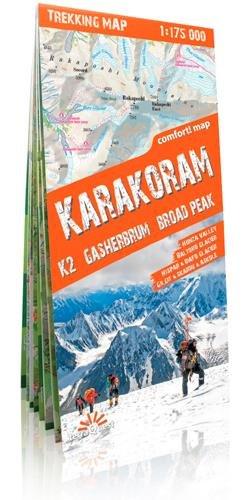 Karakorum, mapa excursionista plastificado. Escla 1:175.000. TerraQuest. (Trekking map)