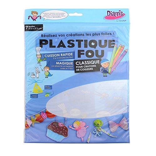 Diam's DI42262 - 7 Feuilles Poncées Plastique Fou Transparent 27,9 x 21,6 x 0,1 cm