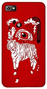 Timpax Light Weight One-piece construction Hard Back Case Cover Printed Design : A white tiger.Exactly Design For : BlackBerry Z10