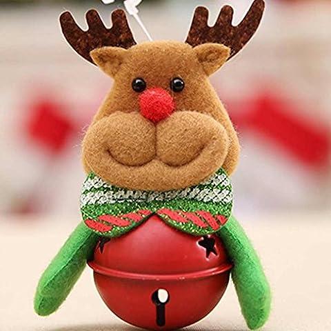 Igemy Décoration de décoration de Noël Arbre Décorations Petite cloche cadeaux de Noël b