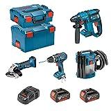 BOSCH Kit PSL4M2CEC (GBH 18V-EC + GSB 18V-21 + GWS 18-125 V-LI + GAS 18V-10L + 2 x 4,0Ah + GAL1880CV + L-Boxx 136 + L-Boxx 238)