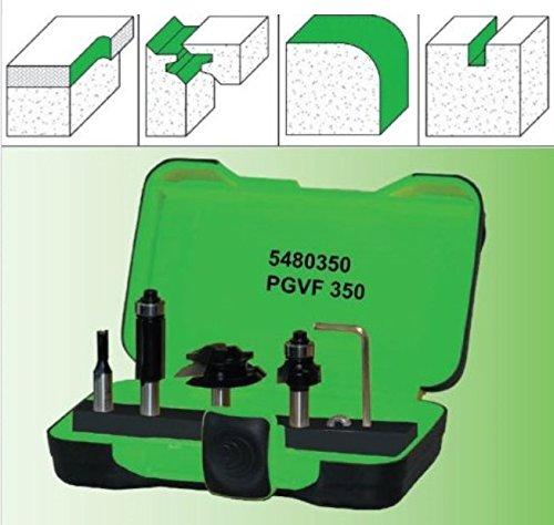 Profi Gehrungs Verleimfräser Set PGVF 350 Bündigfräser Nutfräser S=8 mm