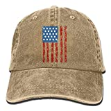 Yuting Cappellini Baseball Cl American Flag Denim Hat Adjustable Unisex Mini Baseball cap