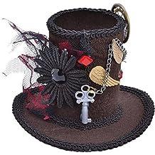 Minisombrero para Halloween, sombrerero loco, estilo Steampunk