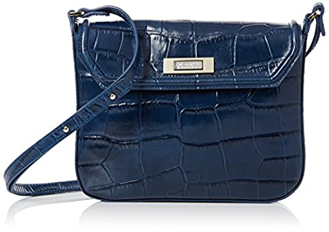 Modalu Women's Lily Cross-Body Bag Blue (denim Blue Croc)