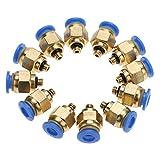 Raccordi pneumatici per tubi pneumatici Raccordi a innesto rapido a filetto maschio rapido(PC4-M5 20pcs)