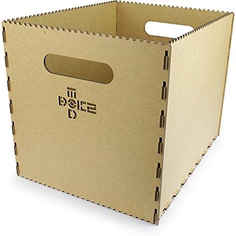 Motorize - Kisten aus Holz (MDF, vintage) kleine und große, steck-stapel-bar, zur Aufbewahrung, ohne Deckel, nicht wasserdicht - 1xA (336mm x 432mm x 336mm)