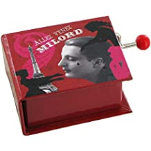 Carillon a manovella a forma di libro - Milord (Edith Piaf)