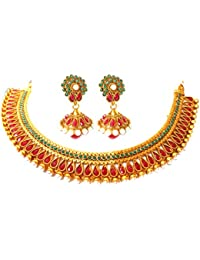 Triumphin Bridal 14K Gold Plating Jewelry Sets For Wedding Jewelries For Women Necklace For Girls/women