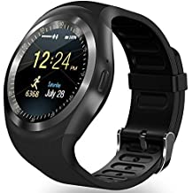 reloj smartwatch ZKCREATION bluetooth reloj inteligente K1 smartwatch sim smart watch hombre fitness tracker waterproof manual de instrucciones en español compatible con Android y iOS(Negro)