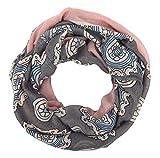 Ella Jonte Loop rosa grau ivory blau Damenschal Schal Viskose Blumen