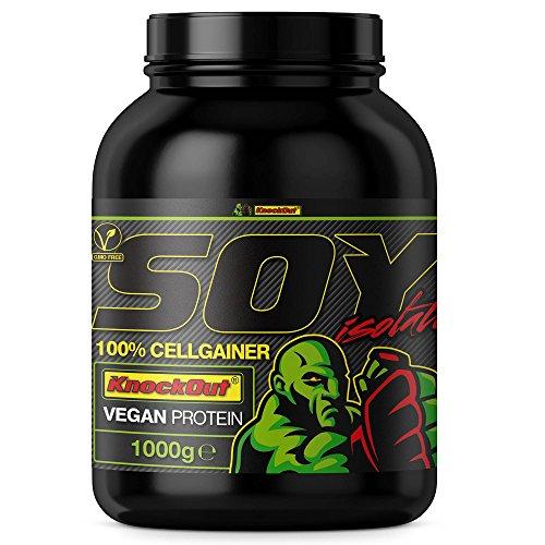 100%SojaCG - Soja CellGainer - vegetarisches Protein-Pulver, KnockOut-Nutrition, Laktose frei - 1kg Erdbeere (Laktose-pulver)