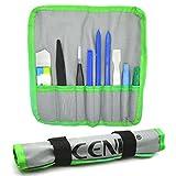 ACENIX® Kit de réparation d'ouverture Pry outil professionnel avec 9pièces non abrasif nylon Spudgers et pince à épiler antistatique