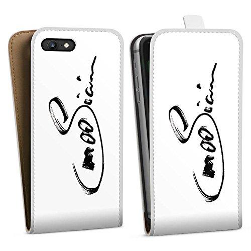 Apple iPhone X Silikon Hülle Case Schutzhülle M00sician Fanartikel Merchandise Unterschrift Downflip Tasche weiß