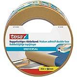 tesa doppelseitiges Klebeband für Teppich Verlegung sowie Bastel- und Dekorationsarbeiten, 25m x 50mm