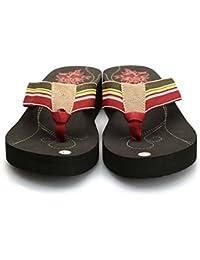 WANGXN Womens Beach Flip Flops Sandalias Thick Bottom No-Deslizamiento Casual Pendiente Y Zapatillas Cinta