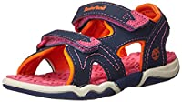 Timberland Active Casual Sandal FTK_Adventure Seeker 2 Strap Sandal, Unisex Kids Open Toe Sandals, Pink, 2.5 UK (35 EU)
