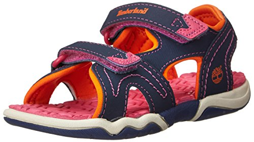 Timberland Active Casual Sandal_Adventure Seeker 2 Strap, Unisex-Kinder Sandalen, Blau (Navy/Orange/Pink), 35 EU