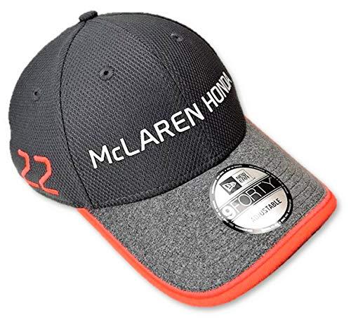 McLaren Honda F1 Team Jenson - Gorra de botón, Color Gris