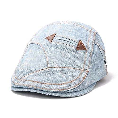 Azione Club Jean Ivy irlandese Cabbie Cappello Cotone Hat Duckbill Unisex Tempo Libero pilota cappello 4colori Light Blue Taglia unica