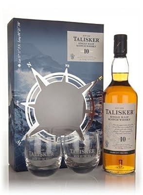 Talisker 10 Year Old and Glasses Gift Set Single Malt Whisky