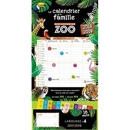 Le calendrier familial Une saison au zoo 2018/2019