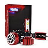 COOAU Fari Dell'automobile LED del Fascio Kit - H7 60W 7200LM 6000K Cool White CREE Angolo 360 ° Fascio Impermeabile IP68