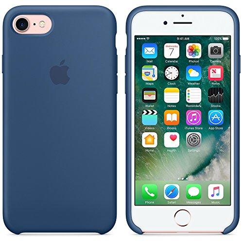 Apple MMY52ZM/A iPhone 7 Leather Hülle schwarz ozeanblau