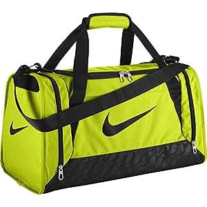 Nike unisex-adult Brasilia 6 Duffel Bag Duffel Bag, Multicolored (Volt/Black/Black), 58.9 x 29.1 x 7.1 cm, 44 Liter