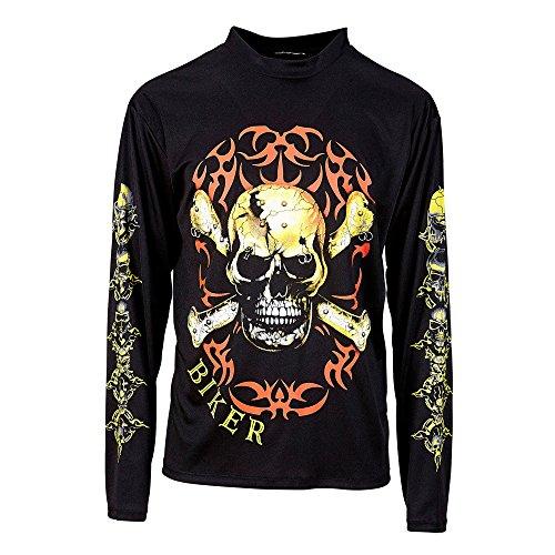 Widmann 49003 - Biker Shirt mit Totenkopf und Knochen, Größe XL