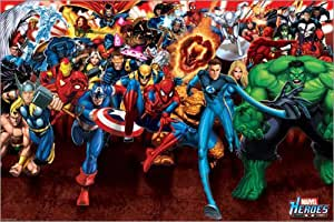 Poster Marvel Heroes - Attack - affiche à prix abordable, poster XXL