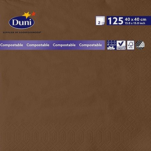 Duni 1789992lagig Tissue Servietten, 40cm x 40cm, kastanie (1250Stück) - Wirtschaft Tissue-papier
