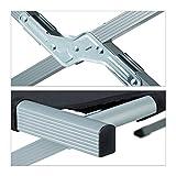 Relaxdays Feldbett, nachstellbar, ausklappbar, Aluminium, Seitentasche, Camping, HBT: 46,5 x 78 x 210 cm, schwarz-silber - 6