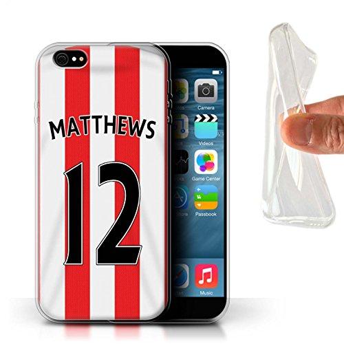 Offiziell Sunderland AFC Hülle / Gel TPU Case für Apple iPhone 6S+/Plus / Khazri Muster / SAFC Trikot Home 15/16 Kollektion Matthews