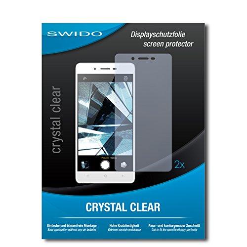 SWIDO Schutzfolie für Oppo Mirror 5s [2 Stück] Kristall-Klar, Hoher Härtegrad, Schutz vor Öl, Staub und Kratzer/Glasfolie, Displayschutz, Displayschutzfolie, Panzerglas-Folie