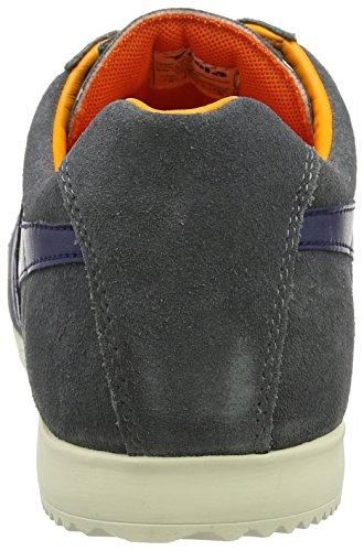 Gola Harrier Suede, Baskets Homme Gris (Graphite/navy/orange)