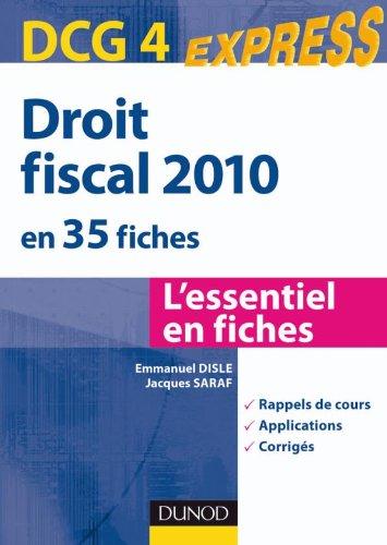 Droit fiscal DCG 4 - 2010 - 2e édition - en 35 fiches