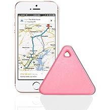 Zizon Tracker Bluetooth pour animal domestique ou enfant, localisation de clés par GPS ou alarme sonore Rose rose