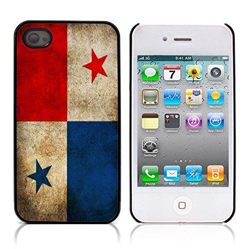 Graphic4You Vintage Uralt Flagge Von El Salvador Salvadorianisch Design Harte Hülle Case Tasche Schutzhülle für Apple iPhone 4 und 4S Panama Panamaisch