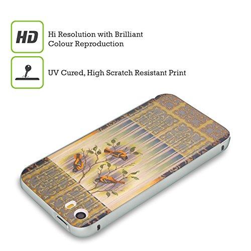 Ufficiale Rachel Paxton Cardellino Estivo Uccelli Argento Cover Contorno con Bumper in Alluminio per Apple iPhone 5 / 5s / SE Rigogolo