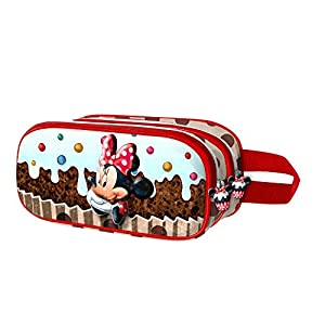 Karactermania 37318 Minnie Mouse Muffin Estuches, 22 cm, Marrón