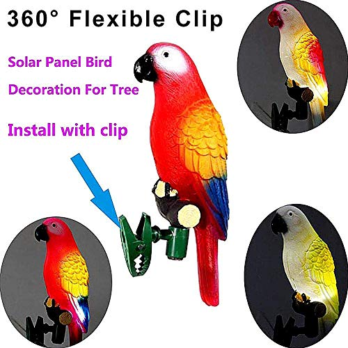 TianranRT 4x Solar Strom Papagei Licht Vogel LED Nacht Licht Outdoor Garten Terrasse Weg Dekor