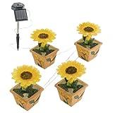 Vier LED Solar Außen Leuchten Blumen Garten Lampe Beleuchtung EGLO 47125