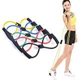 DREAM XPLORE® Resistance 8 Type Muscle Chest Expander Rope Workout Pulling Exerciser Fitness Exercise Tube Sports Yoga for Men and Women - Multi Color